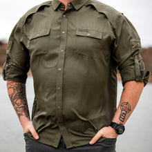 Load image into Gallery viewer, Grunt Style Long Sleeve Fishing Shirt - Olive
