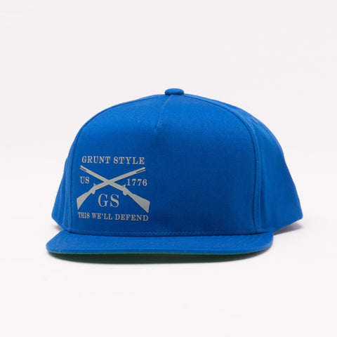 Royal Blue Flat Bill Hat