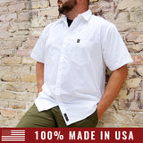 Men's Concord Cotton Short Sleeve Shirt - White