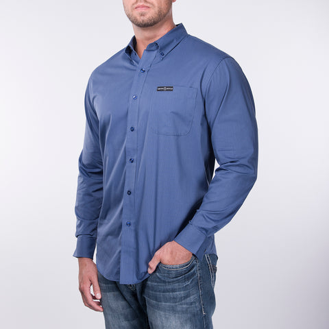 Men's Pro Button Down - Blue