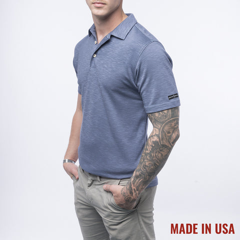 Men's Pro Polo - Steel Blue