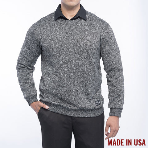 Men's Heather Black Light Sweater