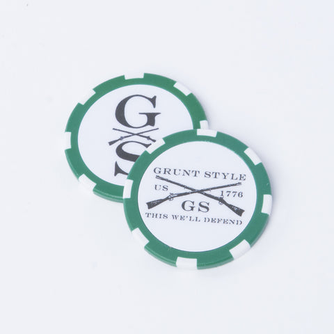 Poker Chip - Green/White