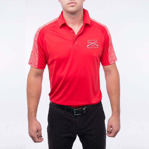 Men's UV Polo - Scarlet