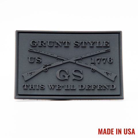Black on Black GS PVC Patch