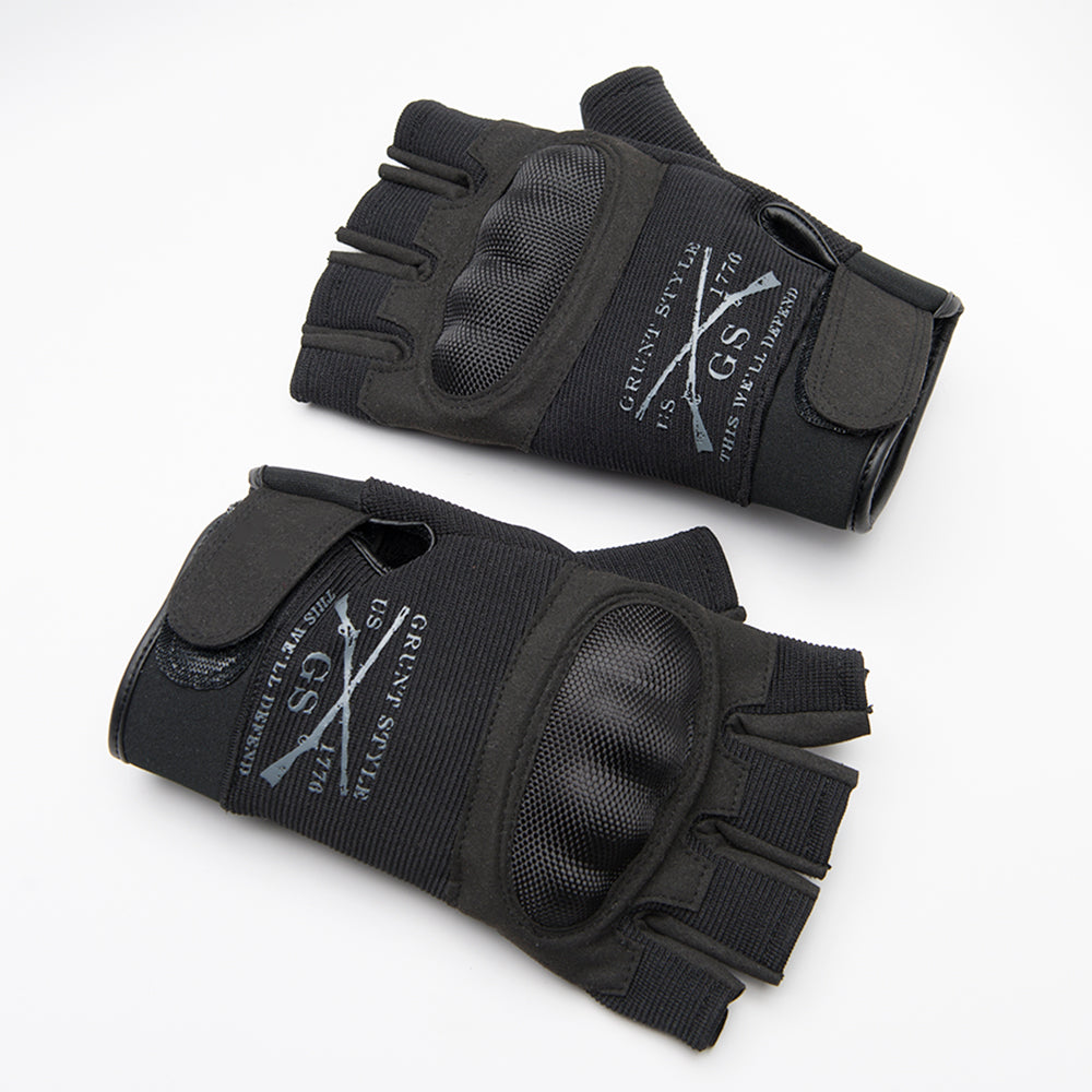 Grunt Style Fingerless Motorcycle Gloves