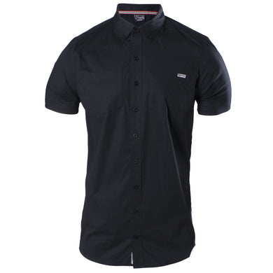 Front of the Grunt Style Black Short Sleeve Button Down