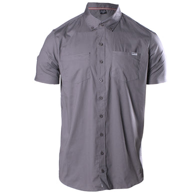Front image of the Grunt Style Asphalt Short Sleeve Button Down