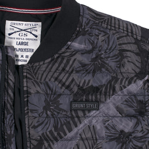 Insulated Bomber Jacket - Death Flower