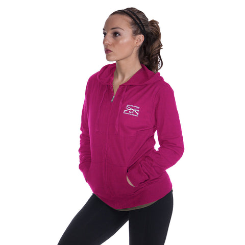 Ladies Athletic Reflex Zipup - Pink
