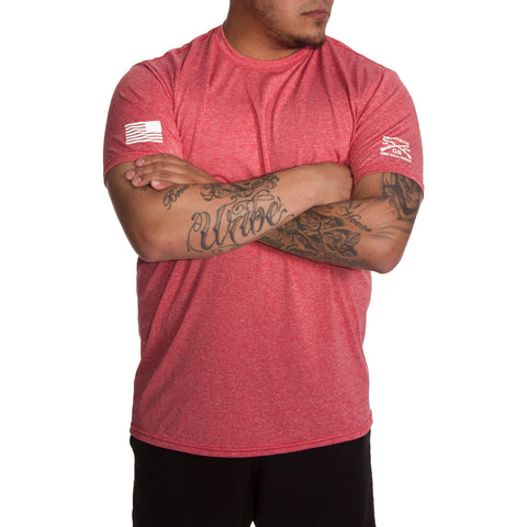 Men's Heather Red Performance Tee