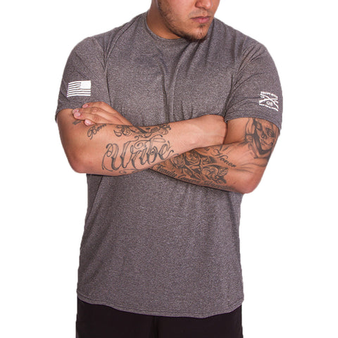 Men's Heather Black Performance Tee