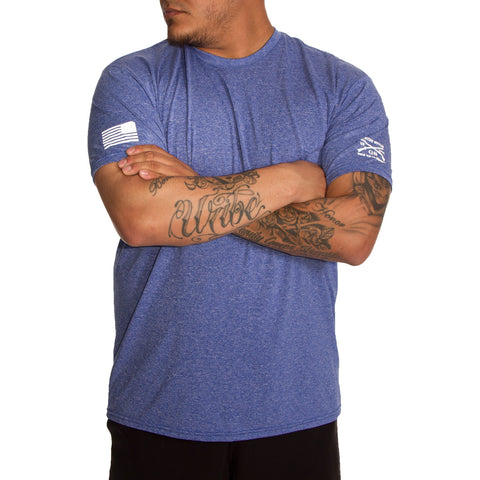 Men's Heather Blue Performance Tee