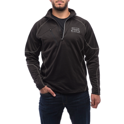 Black Performance Fleece Zip Up