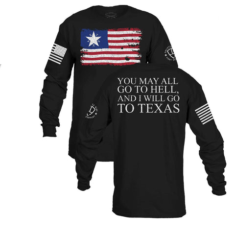 Enlisted Nine - Crockett Flag Long Sleeve