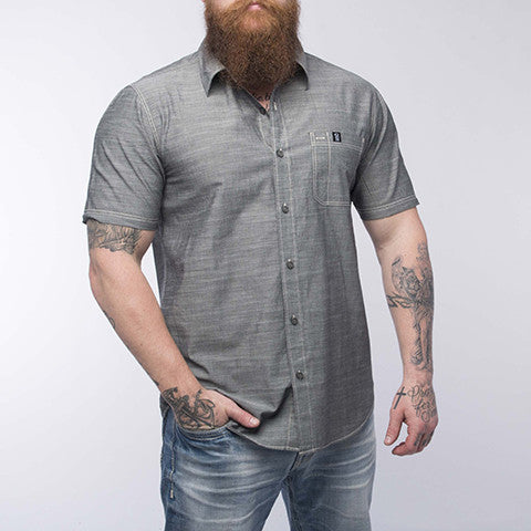 Short Sleeve Pro Button Up - Grey