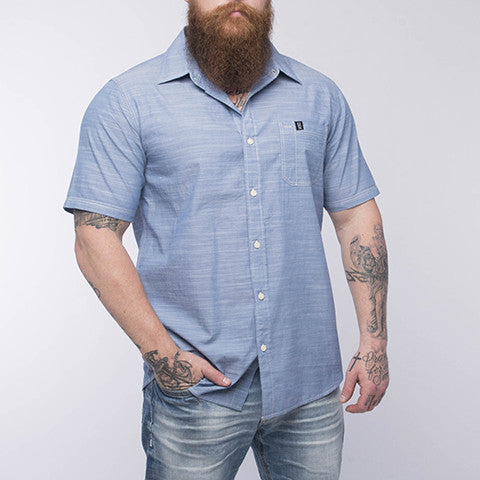 Short Sleeve Pro Button Up - Blue