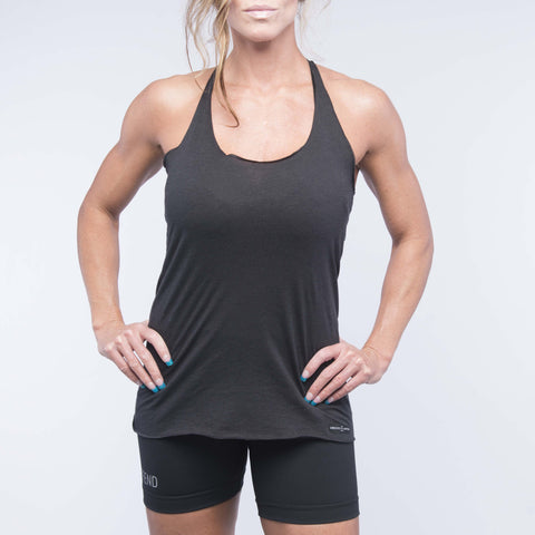 Everywhere Tank - Heather Black