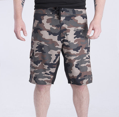 Green Camo Board Shorts