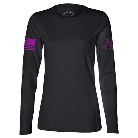 Ladies Black Long Sleeve Moto Basic