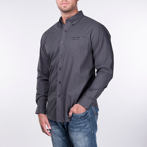 Men's Pro Button Down - Charcoal