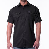 Short Sleeve Snap Work Shirt - Black