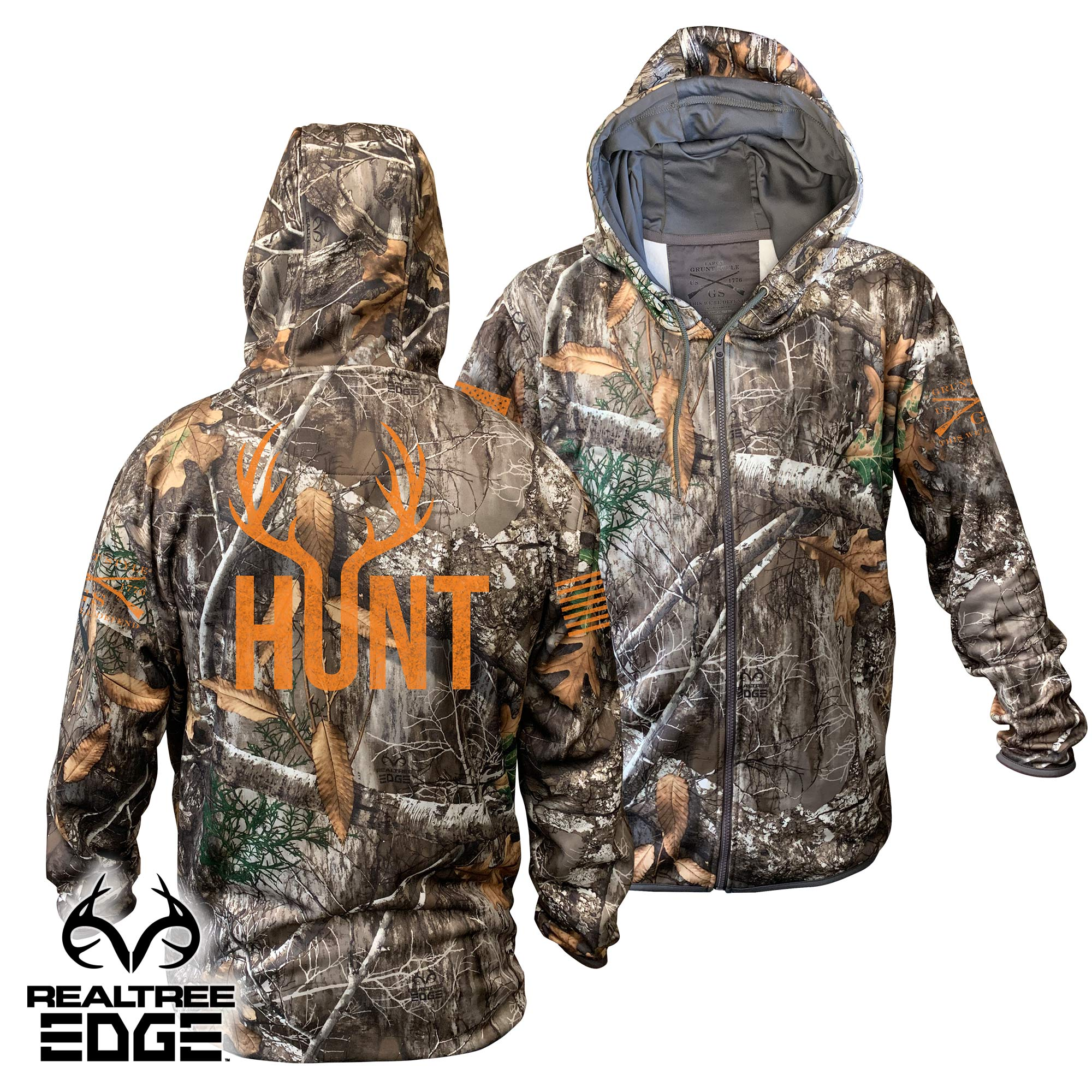 Realtree Edge® Zip-Up Hoodie - Hunt