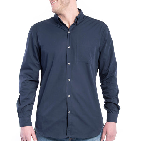Grunt Style Men's Lexington Cotton Long Sleeve Shirt - Navy