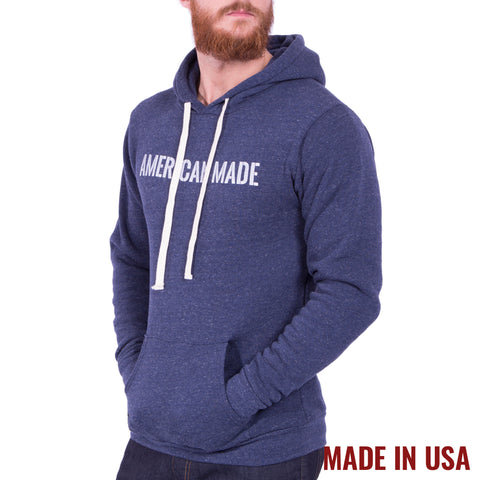 American Made Hoodie - Tri Denim Navy