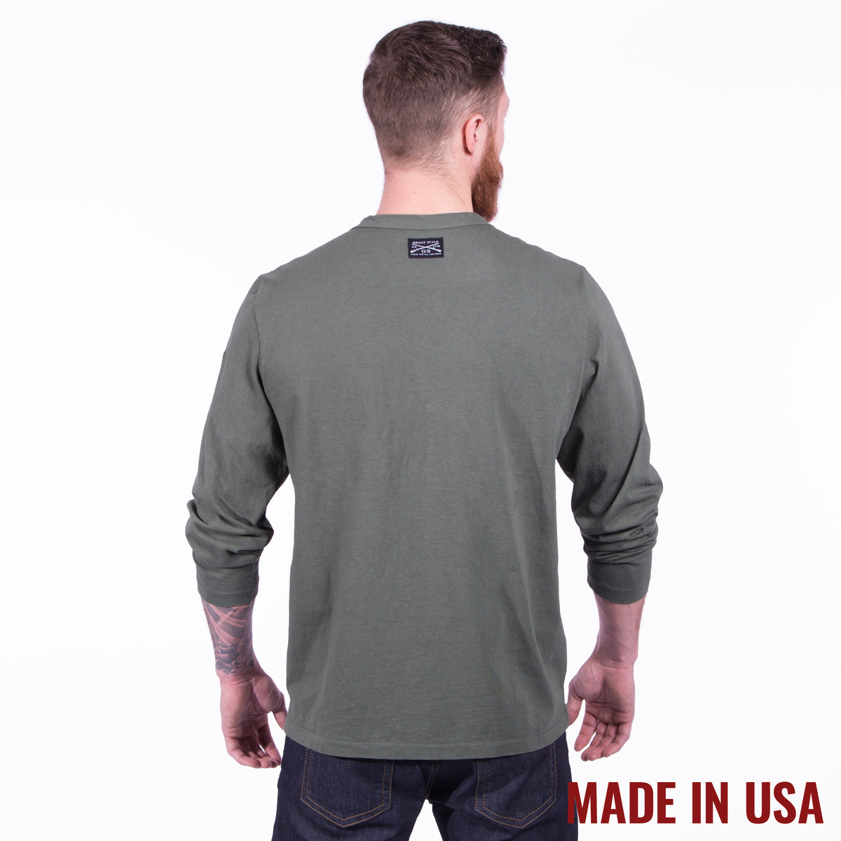 Longsleeve Pocket Tee - Forest Green – Grunt Style c1c75fa36
