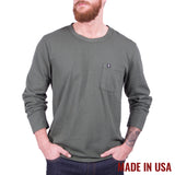 Longsleeve Pocket Tee - Forest Green