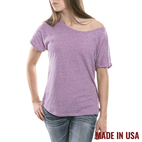 Women's Open Neck - Tri Purple