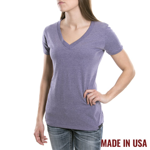 Women's V-Neck - Heather Purple
