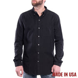Grunt Style Men's Lexington Cotton Long Sleeve Shirt - Black