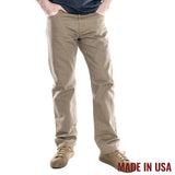 Straight Fit Denim - Khaki
