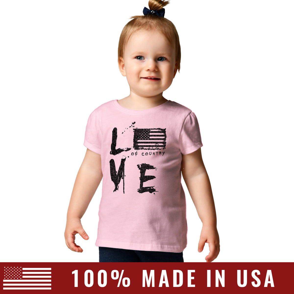 Toddler Love of Country Tee - Pink – Grunt Style c6da53a1b