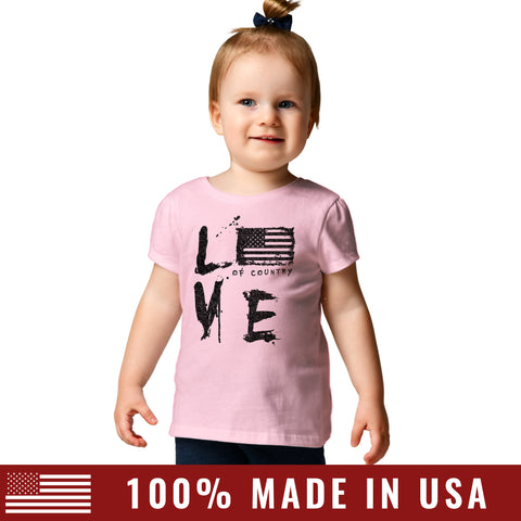 Toddler Love of Country Tee - Pink