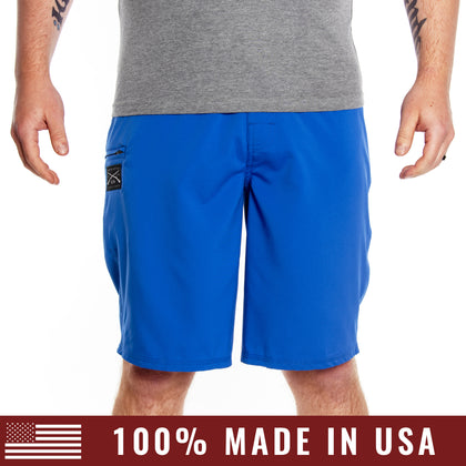 Men's 2-Way Stretch Board Shorts - Blue