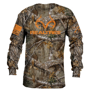 Realtree Edge® Long Sleeve Tee - Blaze Logo