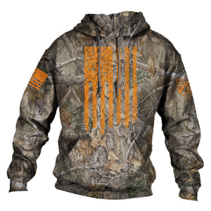 Realtree Edge® Hoodie - Blaze Vertical Flag