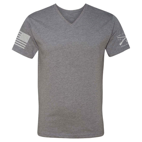 Basic V-Neck - Dark Heather Grey - Men's