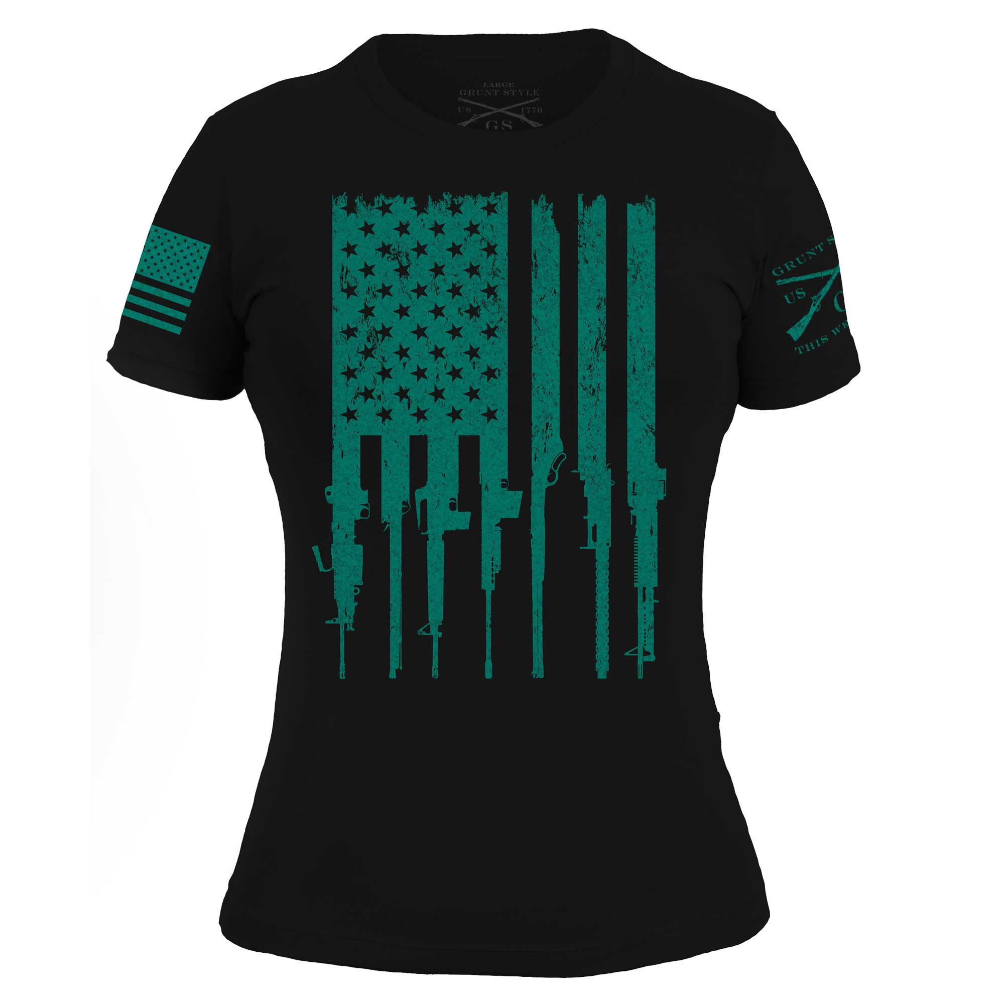 Rifle Flag - Black/Teal