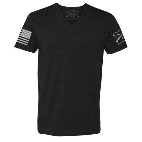 Basic V-Neck - Black - Men's