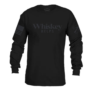 Whiskey Helps™ Black Label - Long Sleeve