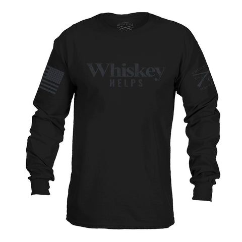 Whiskey Helps Black Label - Long Sleeve