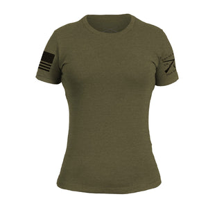 Women's Basic Crew - Military Green