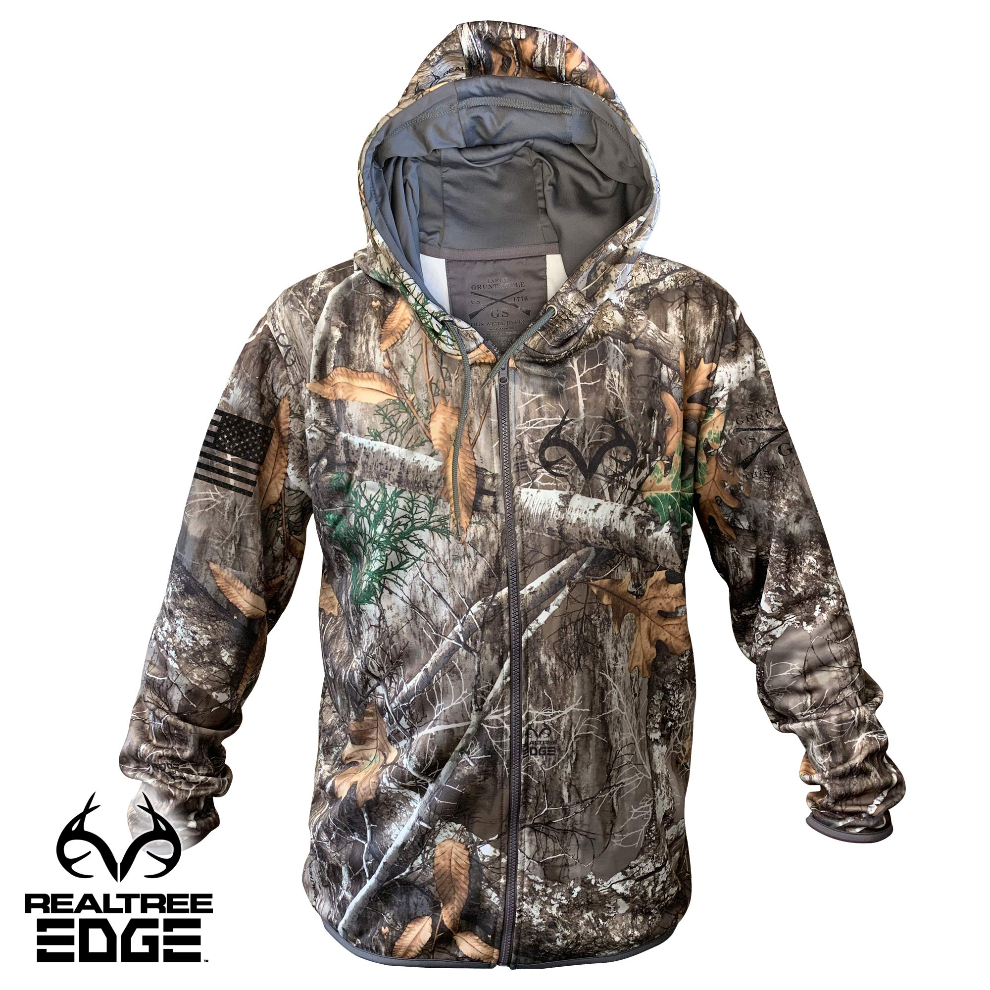 Realtree Edge Full-Zip Hoodie - Simple Logo