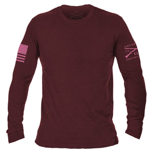 Basic Long Sleeve - Heather Cardinal