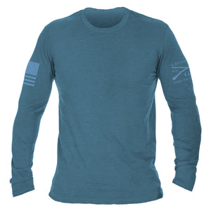 Basic Long Sleeve - Heather Deep Teal