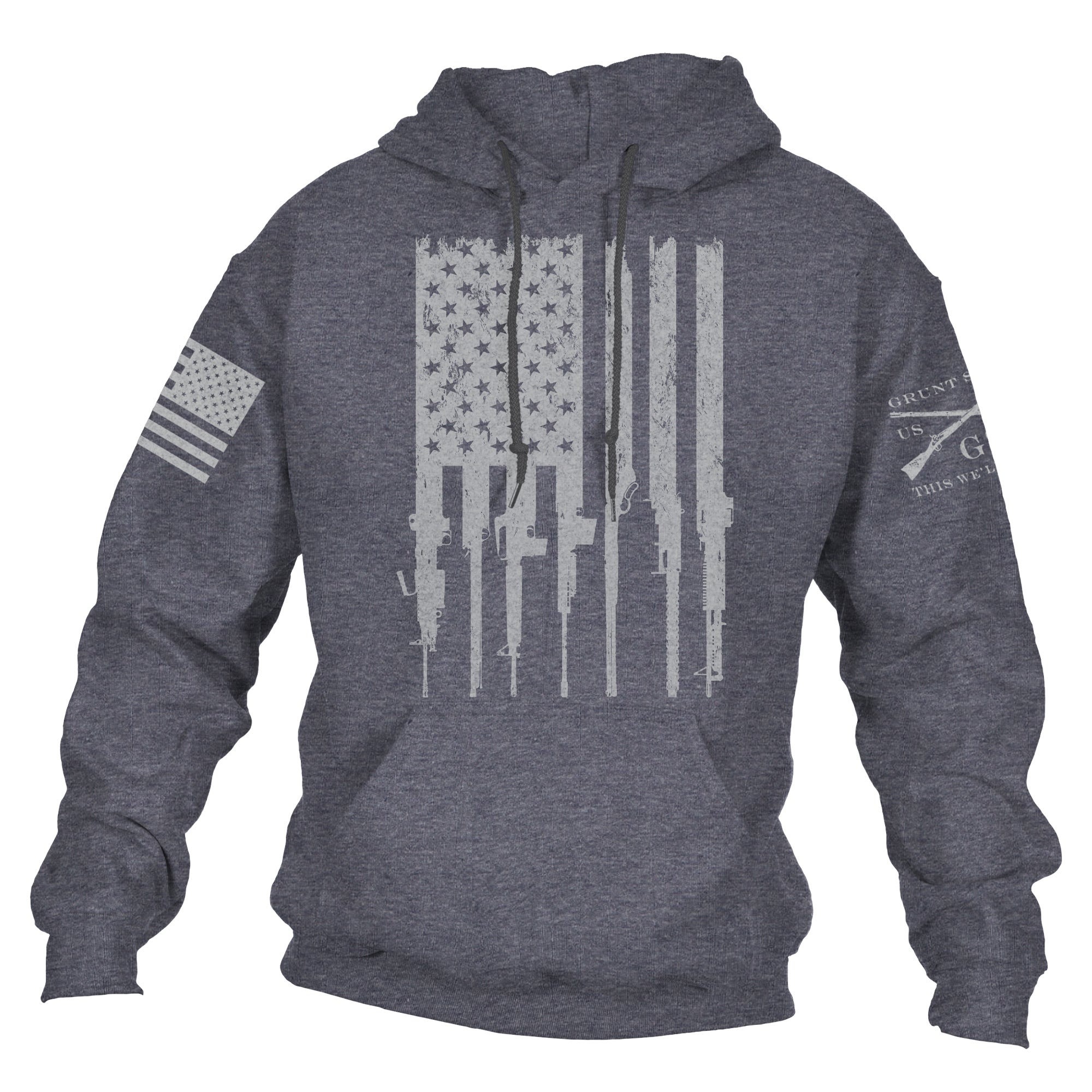 Rifle Flag Hoodie 2.0 - Dark Heather